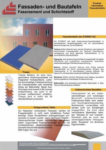 Faserzement, Bauteile - Probst Baustoff Vertriebs GmbH