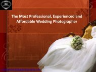 The Most Professional, Experienced and Affordable Wedding Photographer