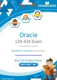Easily Pass 1Z0-434 Exam with our Dumps PDF