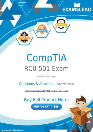 RC0-501 Exam Dumps | CompTIA Security+ RC0-501 Exam Questions PDF [2018]