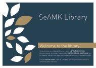 SeAMK Library's brochure 2018
