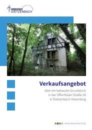 Verkauf Forsthaus Dietzenbach
