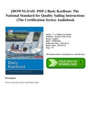 [DOWNLOAD -PDF-] Basic Keelboat The National Standard for Quality Sailing Instructions (The Certification Series) Audiobook