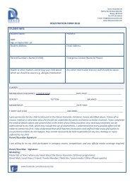 Registration Form 2018-2019