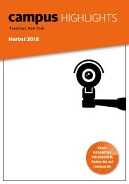Campus Highlights Herbst 2018