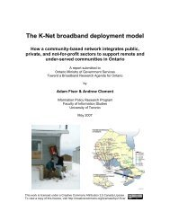 The K-Net broadband deployment model How a ... - Digital Ontario