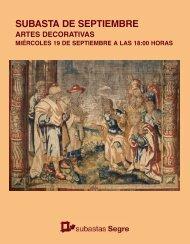 Subasta Artes decorativas Septiembre 2018