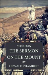 Studies on the Sermon on the Mount by  Oswald Chambers