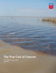 Alternative Annual Report - True Cost of Chevron