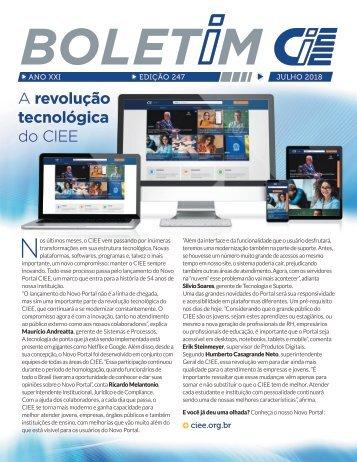 Boletim CIEE Julho 2018 - Edição 247