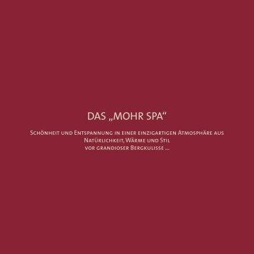 """DAS """"MOHR SPA"""" - Mohr Life Resort"""