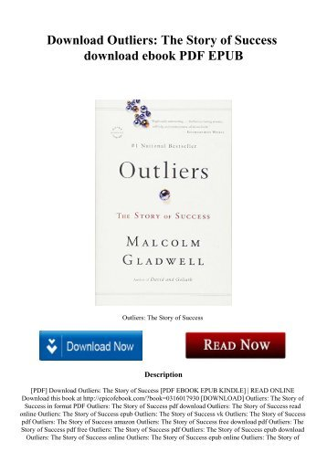 Epub download gladwell outliers