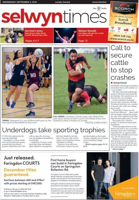 Selwyn Times: September 05, 2018