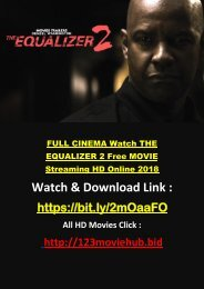 720HD Watch THE EQUALIZER 2 Movie ONline Full MOVIE 2018 Streaming FREE