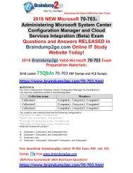[2018-Sep-Version]Braindump2go New 70-703 PDF Dumps 75Q Free Share(34-44)