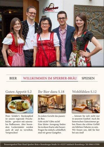 Sperber Bräu - Speisekarte