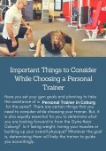 Important Things to Consider While Choosing a Personal Trainer - Page 2