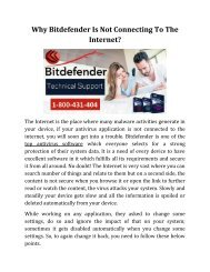 Why Bitdefender Is Not Connecting To The Internet