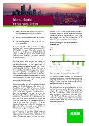 Monatsbericht August 2012 - SEB Asset Management