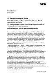 Press Release - SEB Asset Management