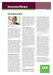 InvestorNews - SEB Asset Management