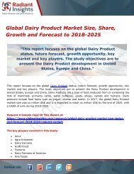 Global Dairy Product Market Size, Share, Growth and Forecast to 2018-2025