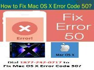 How to Fix Mac OS X Error Code 50
