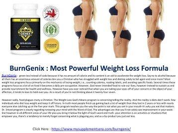 BurnGenix : Convert glucose and fat into energy