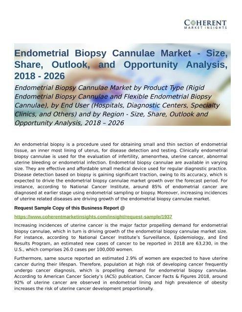 Endometrial Biopsy Cannulae Market