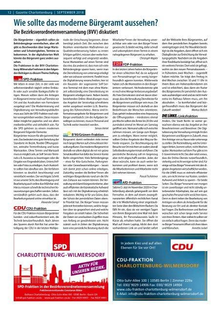 Gazette Charlottenburg September 2018
