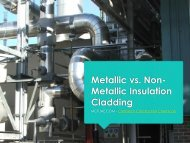 Metallic vs. Non-Metallic Insulation Cladding