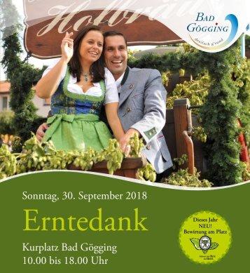 Bayerisches Erntedankfest  in Bad Gögging 2018