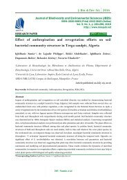 Effect of anthropisation and revegetation efforts on soil bacterial community structure in Terga sandpit, Algeria