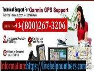 Garmin Support Number +1-800-267-3206
