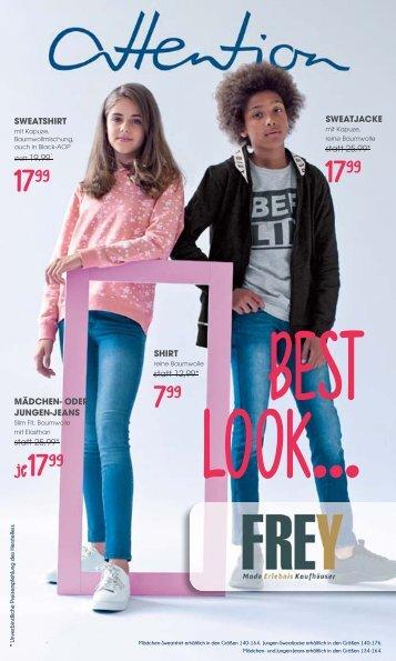 """FREY Mode - Kinder Prospekt """"Attention"""" September 2018"""