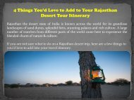 4 Things You'd Love to Add to Your Rajasthan Desert Tour Itinerary