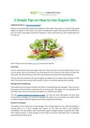 Simple Tips on How to Use Organic Oils