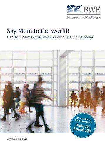 Messeflyer WindEnergy Hamburg 2018