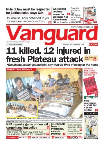 04092018 - 11 killed, 12 injured in fresh Plateau attack