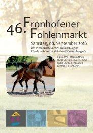 46. Fronhofer Fohlenmarkt am 8. September 2018