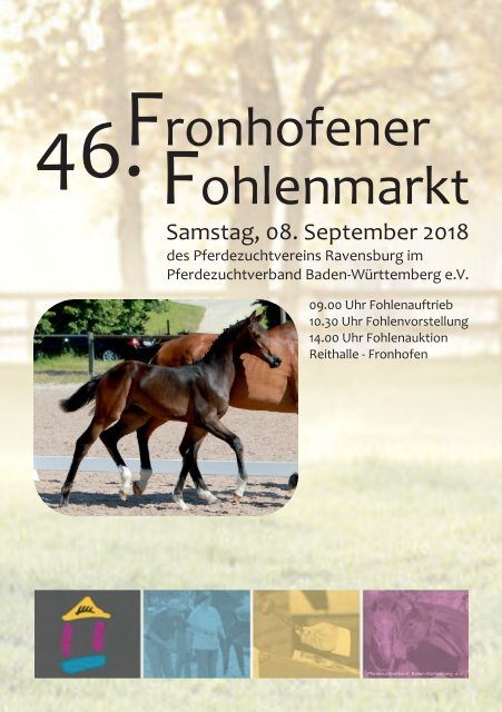 46. Fronhofer Fohlenmarkt am 8. September 2018