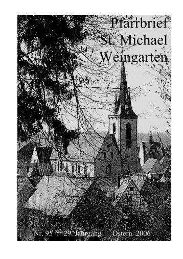 Pfarrbrief St. Michael Weingarten
