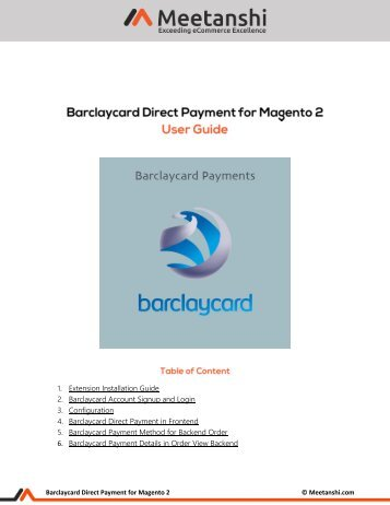 Magento 2 Barclaycard Payments