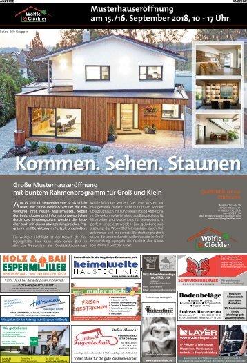 Wölfle & Glöckler: Musterhauseröffnung in Ottobeuren