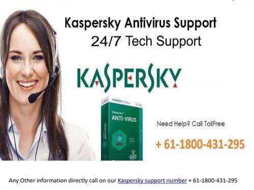 Kaspersky Antivirus support number Australia