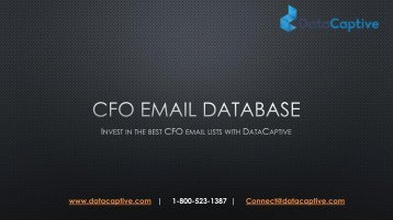 Where can I buy chief financial officer email lists