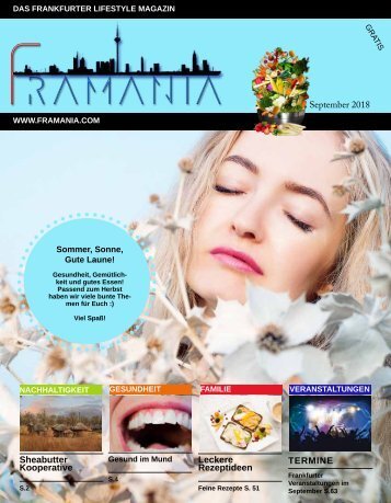 Framania Magazin Ausgabe September  2018
