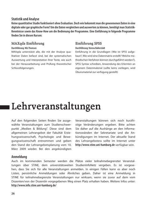 das komplette Veranstaltungsverzeichnis als *pdf. Ausgabe
