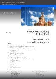 Montageabwicklung in Russland - binetzky brand & partner