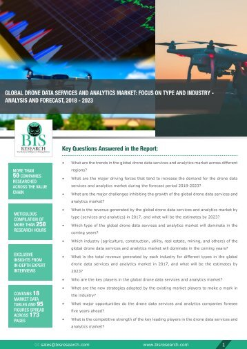 Drone Data Services and Analytics Market Trends